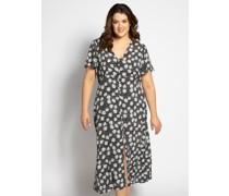 Kleid (große Größen) schwarz/weiß
