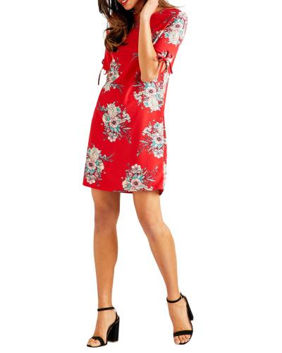 Kleid rot/mehrfarbig