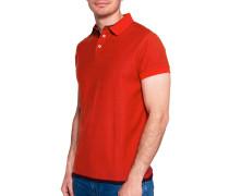 Kurzarm Wende-Poloshirt rot