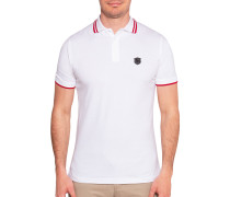 Kurzarm Poloshirt Regular Fit weiß