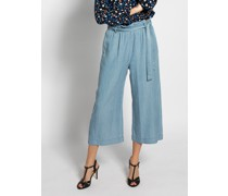 Culotte Jeans blau