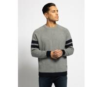 Pullover grau meliert/navy