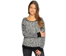 Pullover, schwarz/weiß, Damen