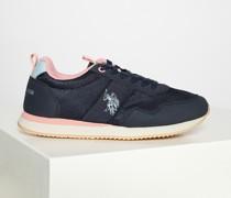 Sneaker navy/rosa