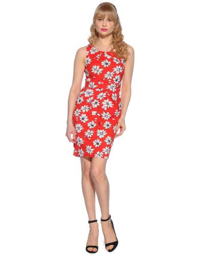 Kleid rot/weiß