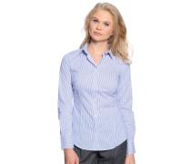 Bluse, blau/weiß gestreift, Damen