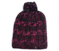 Mütze, schwarz/pink, Damen