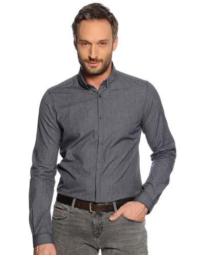 tom tailor herren hemd slim fit schwarz grau kariert. Black Bedroom Furniture Sets. Home Design Ideas