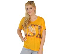 T-Shirt, gelb, Damen