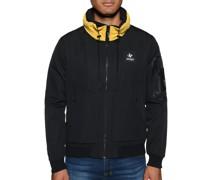 Übergangsjacke schwarz/gelb