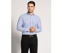Business Hemd Modern Fit blau/weiß