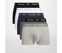 Boxershorts 5er Set grau meliert/navy/weiß/schwarz