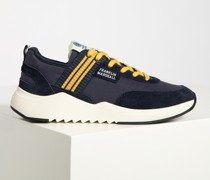 Sneaker navy/gelb