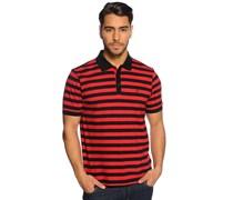 Poloshirt, schwarz/rot, Herren