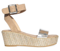 Wedges, Beige, Damen