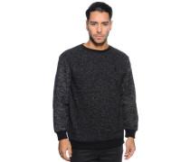 Sweatshirt, schwarz meliert, Herren