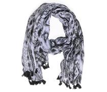 Schal, schwarz/weiß, Damen