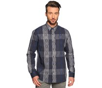 Hemd Regular Fit, navy/grau, Herren