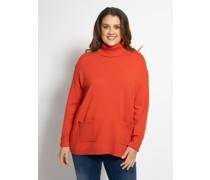 Pullover (große Größen) dunkelorange