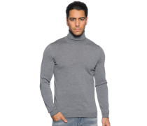 Pullover, grau meliert, Herren