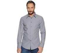 Hemd Custom Fit, grau/weiß gestreift, Herren