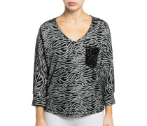 Sweatshirt hellgrau/schwarz