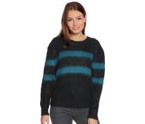 Pullover schwarz/petrol