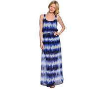Kleid, blau/weiß, Damen