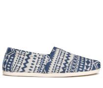 Slipper blau/weiß