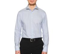 Business Hemd Custom Fit blau/weiß