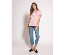 Blusenshirt weiß/pink