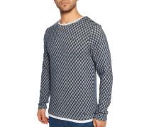Pullover grau/weiß
