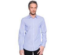 Hemd Slim Fit, blau/weiß, Herren