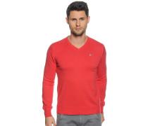 Pullover, rot meliert, Herren