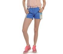 Shorts, blau/weiß, Damen