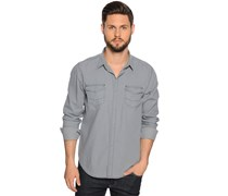 Jeanshemd Regular Fit, grau, Herren