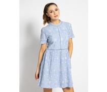 Kleid hellblau/weiß