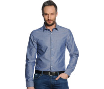 Hemd Regular Fit, graublau, Herren