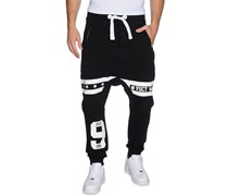 Team Number Jogger, black, Herren