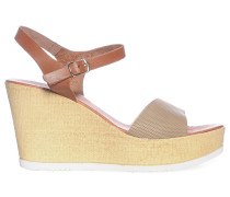 Wedges, braun/beige, Damen