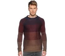 Pullover, blau/rot/braun, Herren