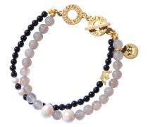 Armband, grau/gold, Damen