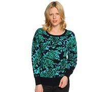 Pullover, grün/schwarz, Damen