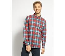 Langarm Hemd rot/blau