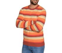 Pullover orange/rot/gelb gestreift