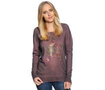 Pullover mit Kaschmir, aubergine/grau, Damen
