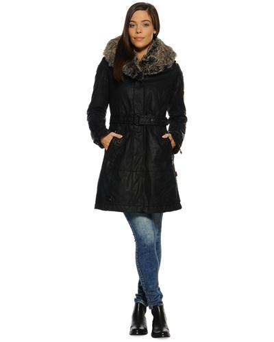 khujo damen mantel schwarz damen 50 reduziert. Black Bedroom Furniture Sets. Home Design Ideas