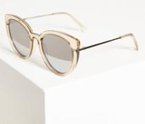 Sonnenbrille beige/silber