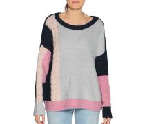 Pullover grau meliert/rosa