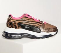 Sneaker braun/fuchsia/weiß
